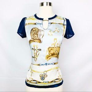 Hermès | Silk Graphic Print Blouse